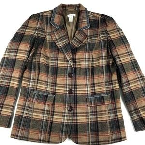 Orvis Plaid Blazer Jacket